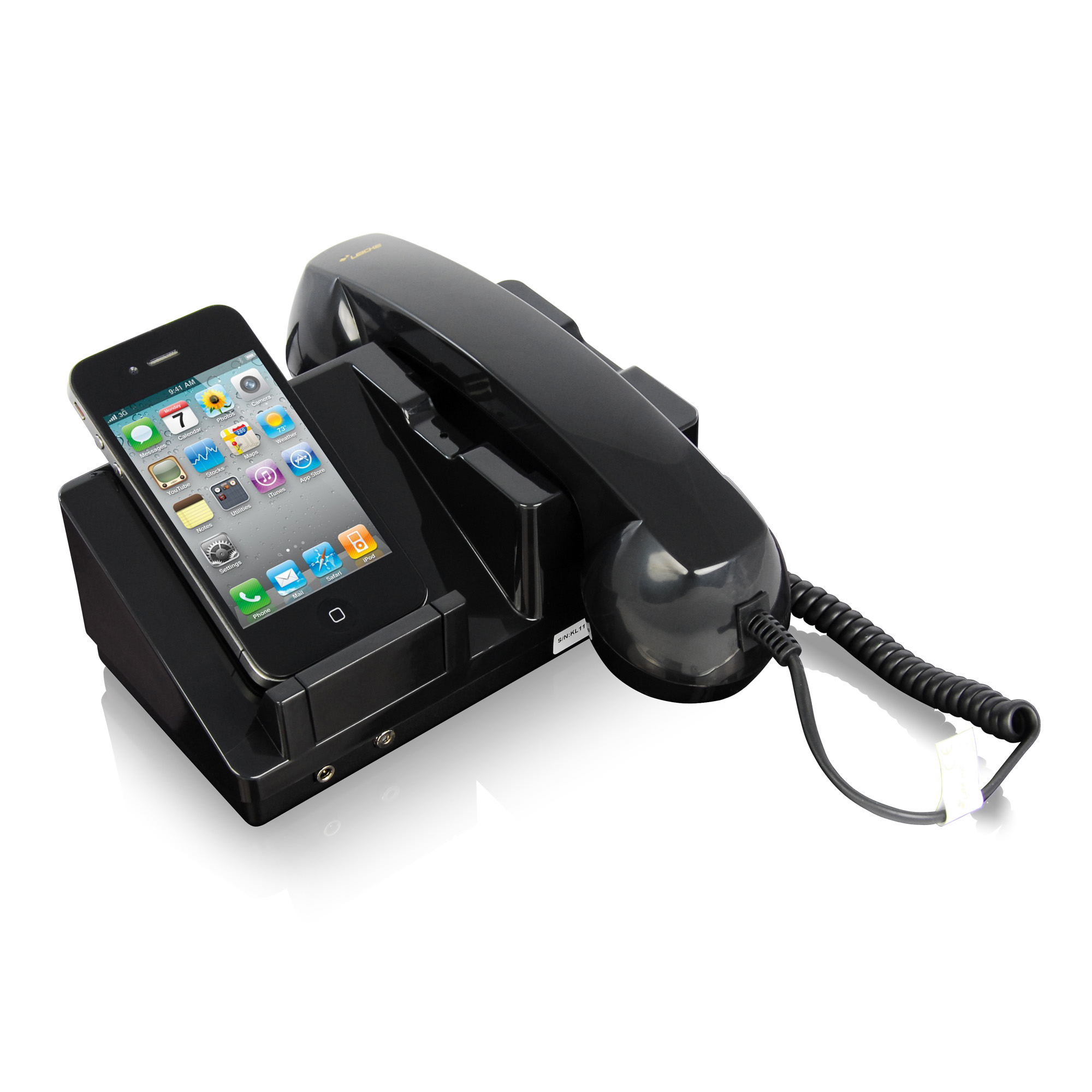 leicke leicke retro docking station for iphone 4 with iphone. Black Bedroom Furniture Sets. Home Design Ideas