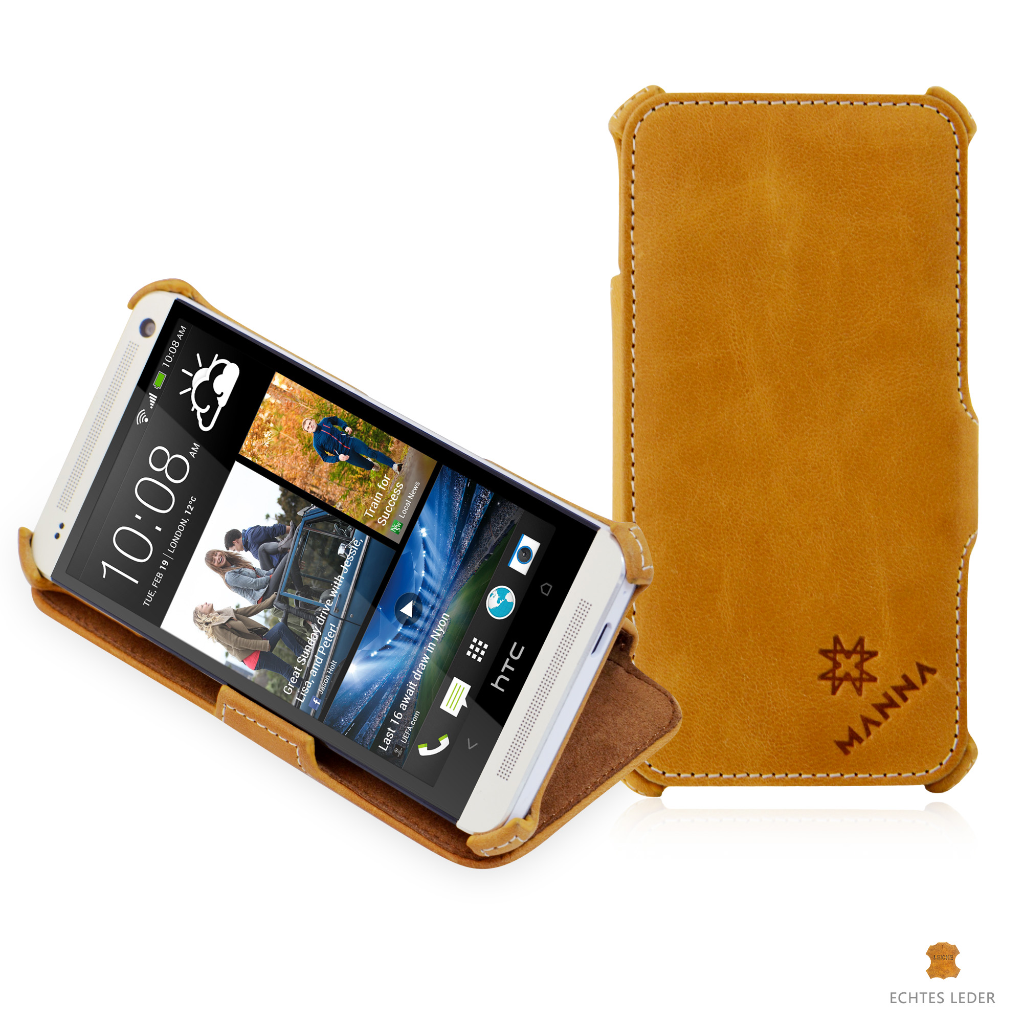 e5a209fa35f MANNA UltraSlim HTC One M7 Flip Case Protective Cover Wallet Stand MN60096