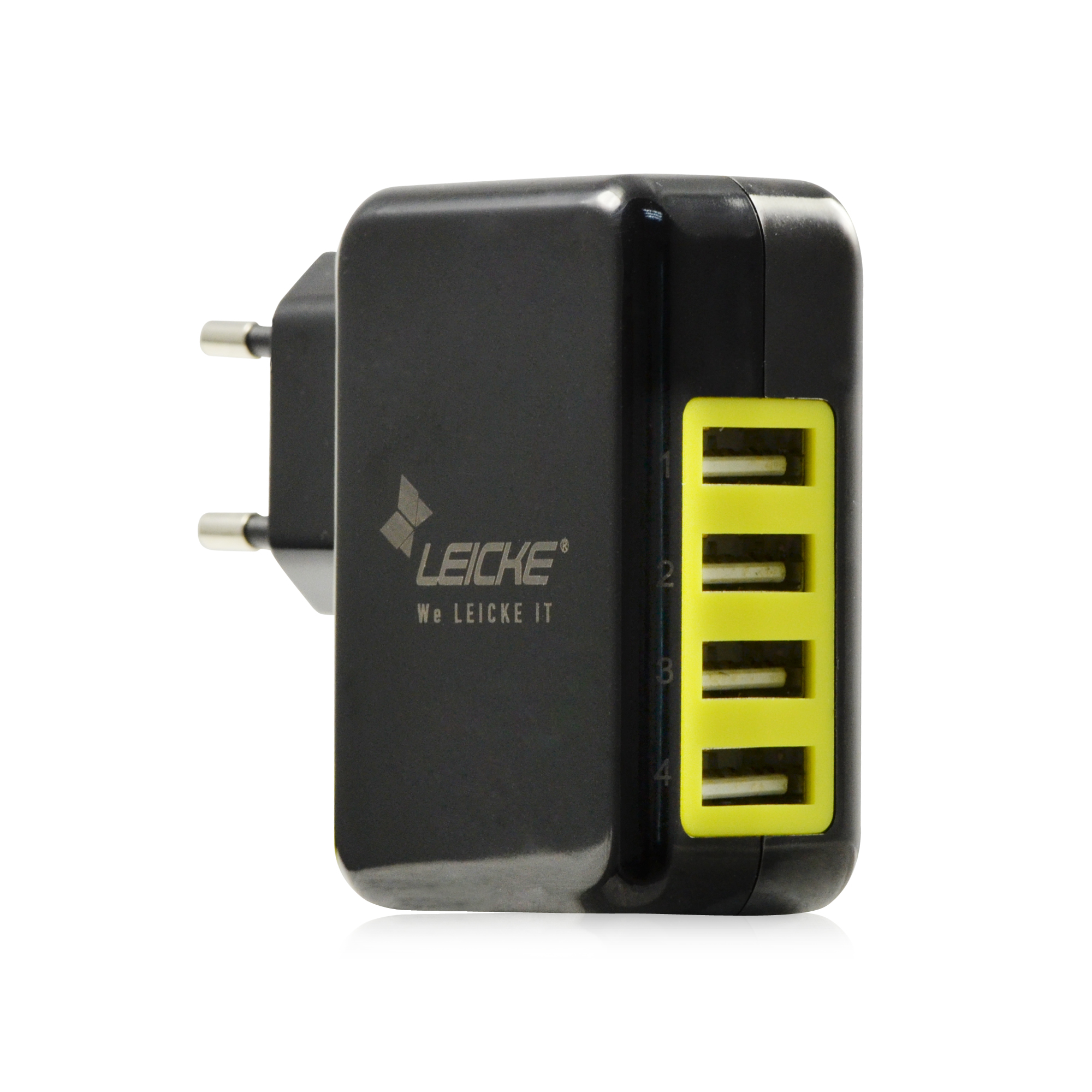 leicke leicke adaptateur chargeur mural universel avec 4 ports usb. Black Bedroom Furniture Sets. Home Design Ideas