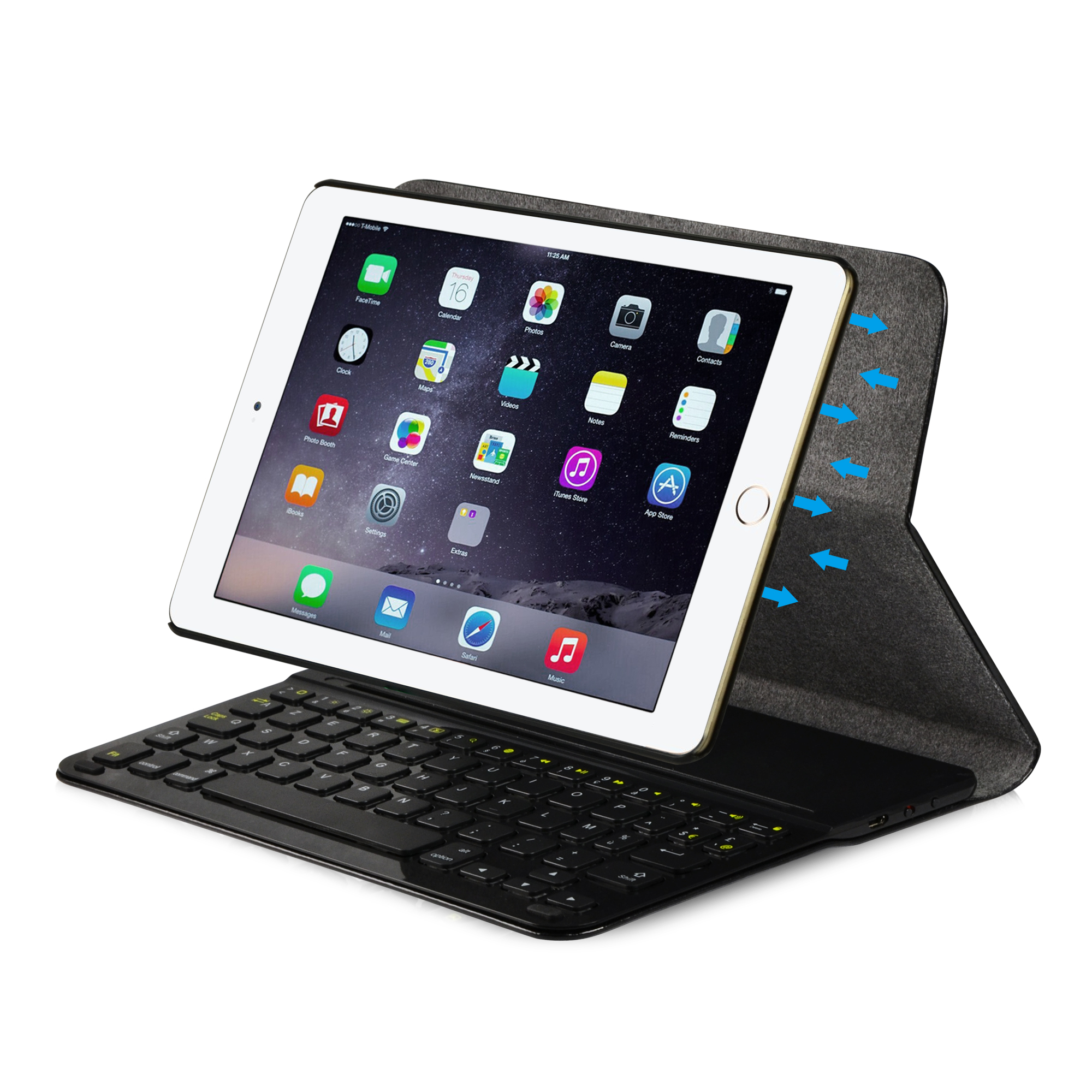 leicke sharon ipad air 2 h lle mit bluetooth tastatur. Black Bedroom Furniture Sets. Home Design Ideas