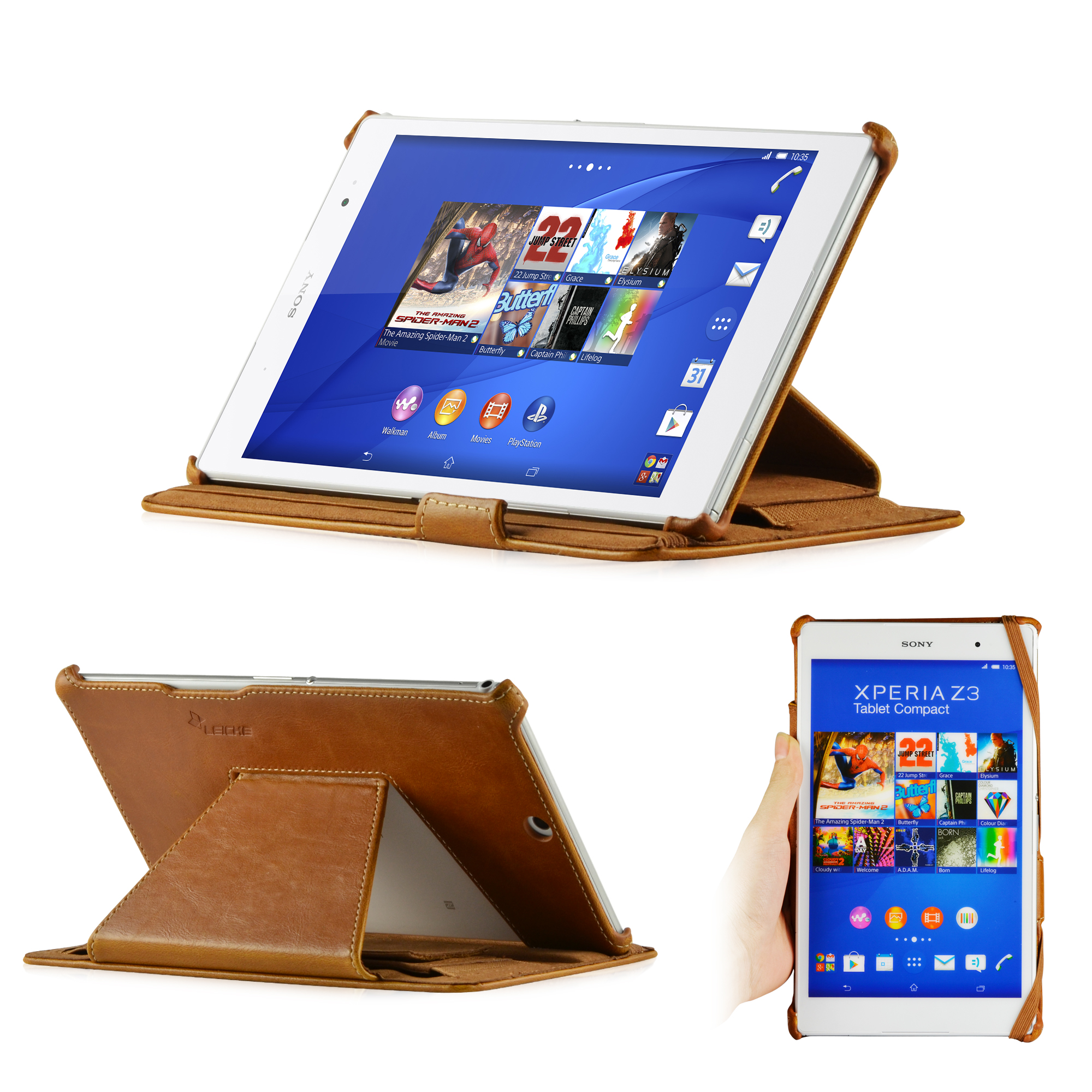 leicke manna tui coque de protection pour tablette sony xperia z3. Black Bedroom Furniture Sets. Home Design Ideas