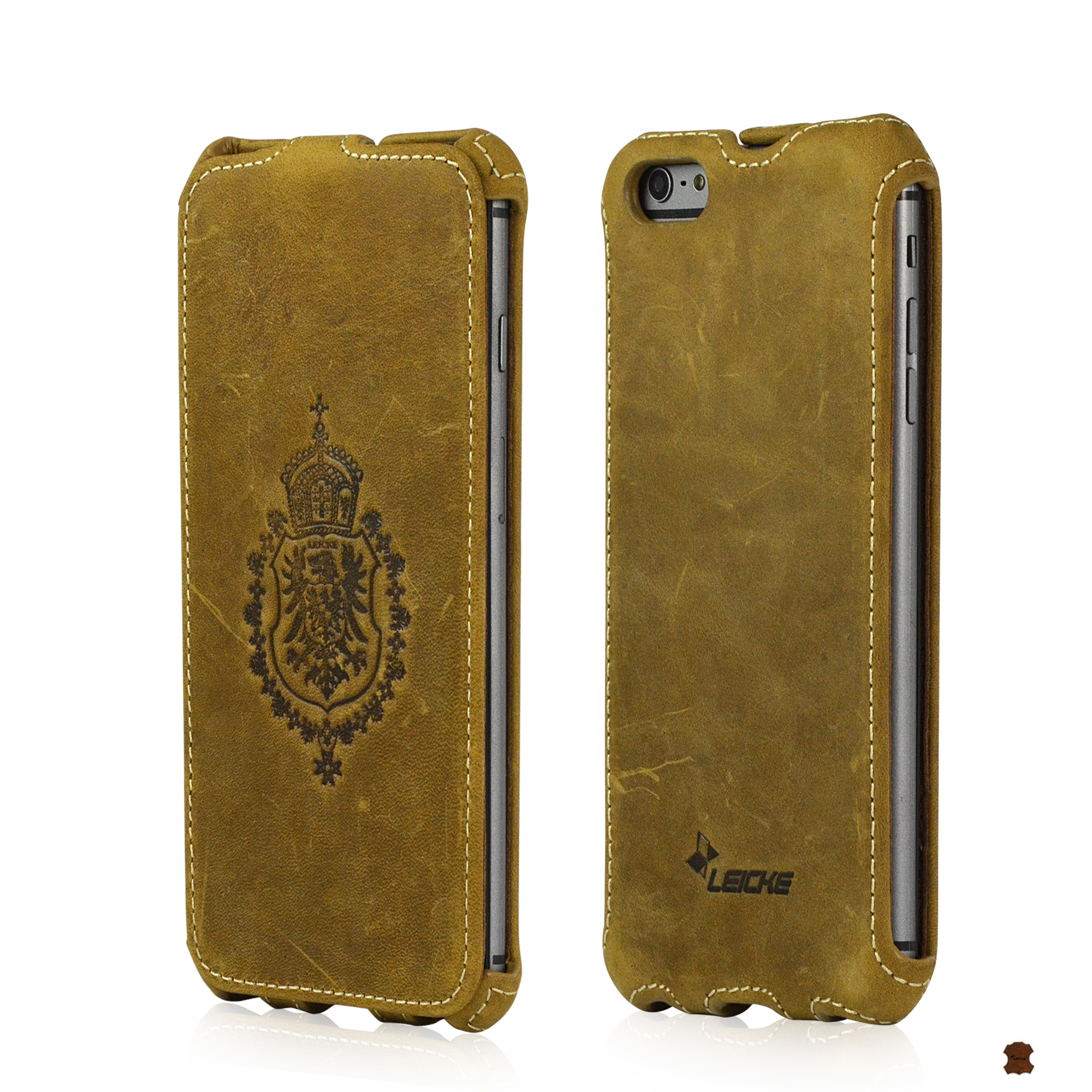elegante custodia morbida in pelle per iphone 6plus